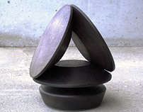 sculpture: geometric solid 1/彫刻:幾何形体1