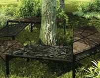 Three-tree urban furniture