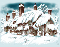 Flaxborough Cottage in Winter