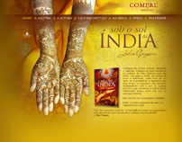 Layout criado para o hots do livro Sob o sol da Índia