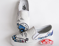 Ride the waves - Custom Vans Shoes