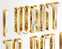 K.N.O.X.Y - Golden typeface