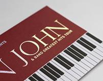 ELTON JOHN INVITE CARD