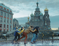 "Actimel ""Winter adventures of Italians in Russia"" TVC"