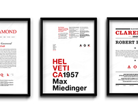 Type Classification Posters