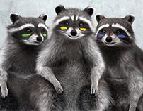Еноты-барабанщики | Raccoons drummers