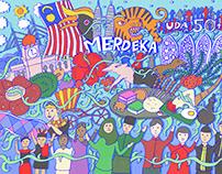 UDA Merdeka Doodles 2021