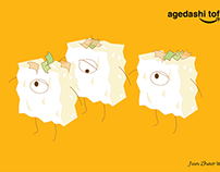 Agedashi tofu character design