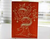 Christmas Lino Print