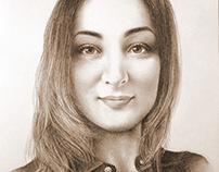 Portrait of a girl.Портрет девушки.Портрет на заказ.