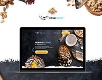 Дизайн Landing Page для компании рыбных снеков