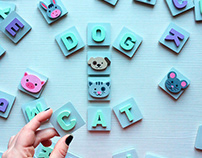 Handmade wooden magnets | Game for kids
