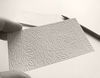 WHITE PERSONAL CARDS