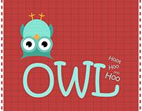 #Owl #animal #Cute #fun #illustration