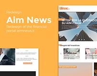 Aim News - Portal redesign