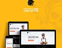 "Website for tattoo studio ""Lion Tattoo""."