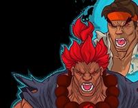 akuma,ryu,father and son