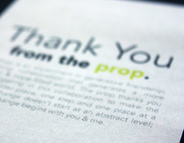 The Prop Thank You Cards