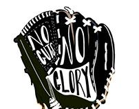 No guts no glory baseball