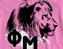 Phi Mu Sorority T-shirt Graphics