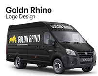 Goldn Rhino Logo Design