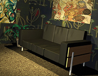 Robin Day Sofa drawn in AutoCad & 3D Studio