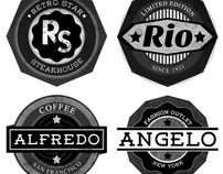20 Grunge Rounded Badges or Logo Shapes