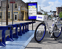 Pace Bike Share: Street and On-Bike Signage