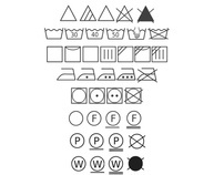 Clothing care symbols manuals