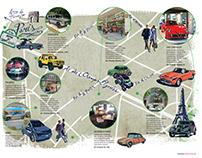 Paris, car stores city tour