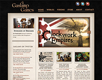 Website Design: Gaslamp Games (Wordpress development)