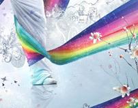 Rainbow's dance