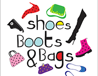 Hand lettering illustration - Shoes Boots & Bags