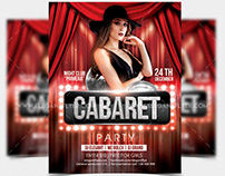 Cabaret Party – Free Party Flyer Template in PSD