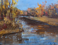 """Autumn"" canvas, oil 50x60"