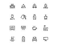 Hotel Icons Set 02