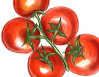 Cherry Tomatoes, Package Illustration