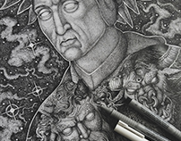 """Divine Comedy"" Dotwork Illustration"