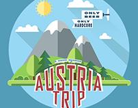 Flat illustration. Austria Trip.