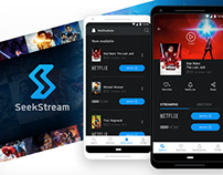 SeekStream - Mobile App | UX & UI | Case Study
