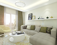 Flat Interior Design / Sitting Room Design