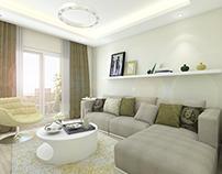 Flat Interior Design / Sitting Room Design