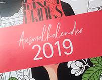Kalender zum Ausmalen für 2019