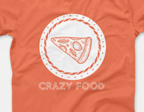 Funny Crazy Food Pizza T-Shirt