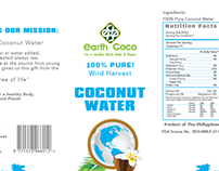 Earth Coco Coconut Water Label Proposal