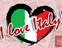Tour Italy Now Custom Graphics for use on Social Media