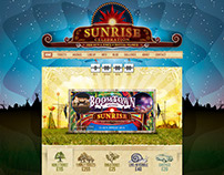 Sunrise Festival - Website skin design