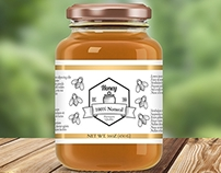 4 Jam & Honey Glass Jar Mockups