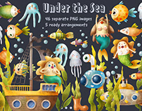 Under the sea graphic collection