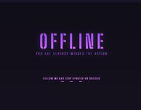 Sleek Purple Gamer Glow Twitch Overlay Design